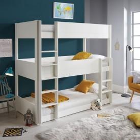 Three Tier White Bunk Bed