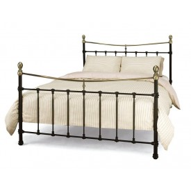 Edwardian 2 Black Double Bed Frame