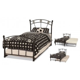 Soccer Black Guest Bed Frame