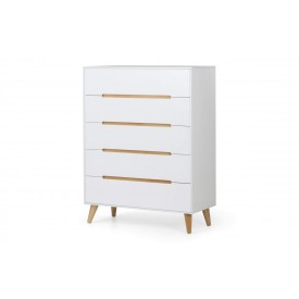 Alcester White 5 Drawer Chest
