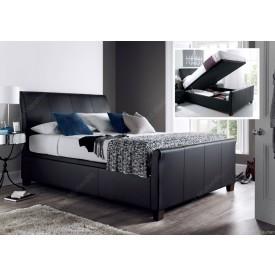 Allen Black Leather Ottoman Storage Bed