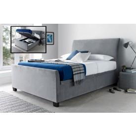 Allen Grey Velvet Ottoman Storage Bed