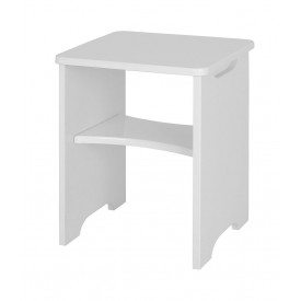 Alpine White Gloss Stool