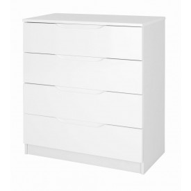 Alpine White Gloss 4 Drawer Chest