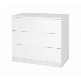 Alpine White Gloss 3 Drawer Chest