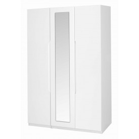 Alpine White Gloss 3 Door Robe With Mirror