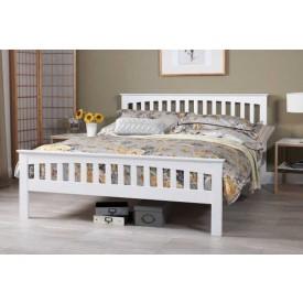 Emelia Opal White Super Kingsize Bed Frame