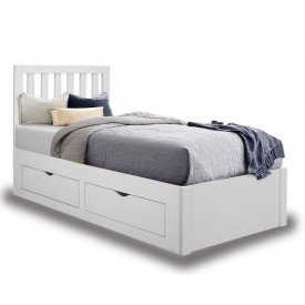 Apple White Storage Bed