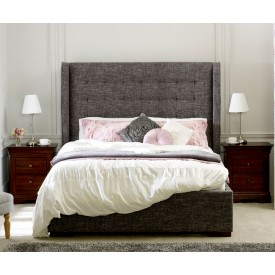 Quinto Grey Waffle Bed Frame