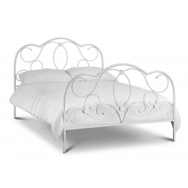 Bella Stone White Double Bed Frame