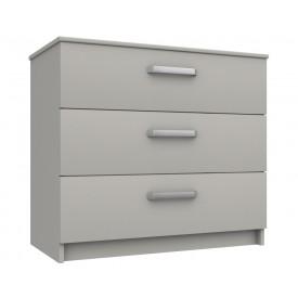Arden Cashmere Grey Gloss 3 Drawer Chest