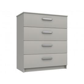 Arden Cashmere Grey  Gloss 4 Drawer Chest