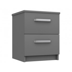 Arden Dust Gloss 2 Drawer Bedside