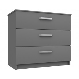 Arden Dust Grey Gloss 3 Drawer Chest