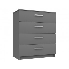 Arden Dust Grey  Gloss 4 Drawer Chest