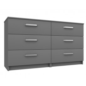 Arden Dust Gloss 3 Drawer Double Chest