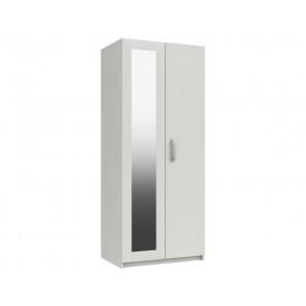Arden White Gloss 2 Door Robe With Mirror