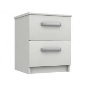 Arden White Gloss 2 Drawer Bedside