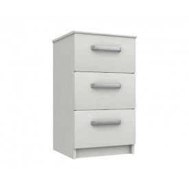 Arden White Gloss 3 Drawer Bedside