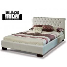 Ariel White Double Bed Frame