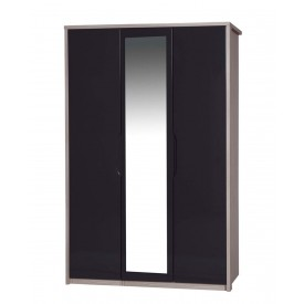 Avola Champagne With Grey Gloss 3 Door Robe With Mirror