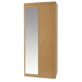 Beech Mode 2 Door Robe With Mirror