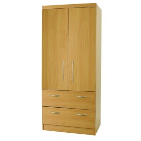 Beech Mode 2 Door Combi Robe