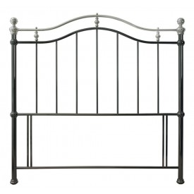 Bentley Designs Chloe Black & Shiny Nickel Kingsize Headboard
