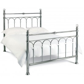Bentley Designs Krystal Antique Nickel Kingsize Bed Frame
