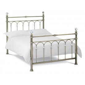 Bentley Designs Krystal Antique Brass Kingsize Bed Frame