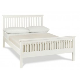 Bentley Designs Atlanta White High Foot Three Quarter Bed Frame