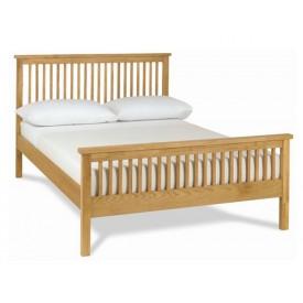 Bentley Designs Atlanta Oak High Foot Kingsize Bed Frame