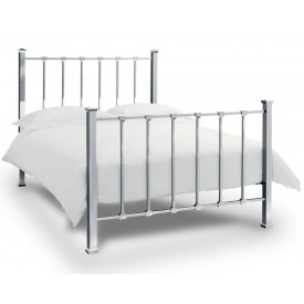 Bentley Designs Madison Shiny Nickel Double Bed Frame