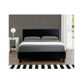 Berlin Parade Black Crushed Velvet Bed Frame