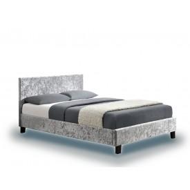 Berlin ParadeSteel Crushed Velvet Single Bed Frame