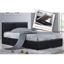 Berlin Parade Black Double Ottoman Storage Bed Frame