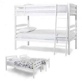 Brooke Opal White Bunk Bed