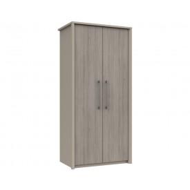 Burton 2 Door Robe Grey Oak