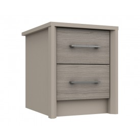 Burton 2 Drawer Bedside Grey Oak