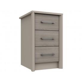 Burton 3 Drawer Bedside Grey Oak