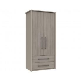 Burton 2 Door Combi Robe Grey Oak