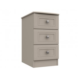 Cambridge Clay 3 Drawer Bedside