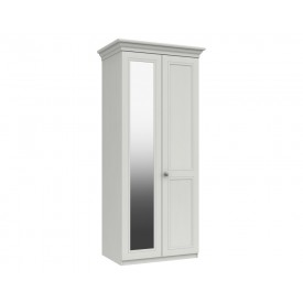 Cambridge White 2 Door Wardrobe With Mirror