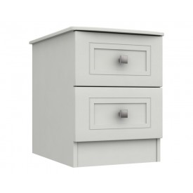 Cambridge White 2 Drawer Bedside