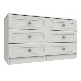 Cambridge White 3 Drawer Double Chest