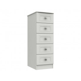 Cambridge White 5 Drawer Tallboy