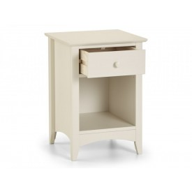 Cambell White 1 Drawer Bedside