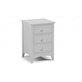 Cambell Grey 3 Drawer Bedside