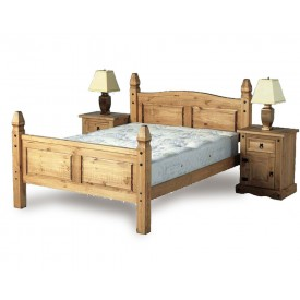 Corona Mexican Double Bed Frame