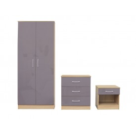 Daytona Grey Bedroom Trio Set